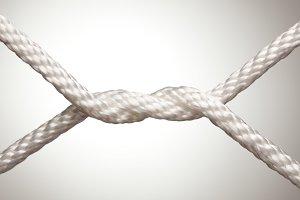 Nylon Rope Twist Knot in Spotlight