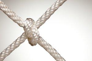 Nylon Rope Knot in Spot Light
