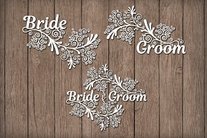 Friezes Wedding SVG files