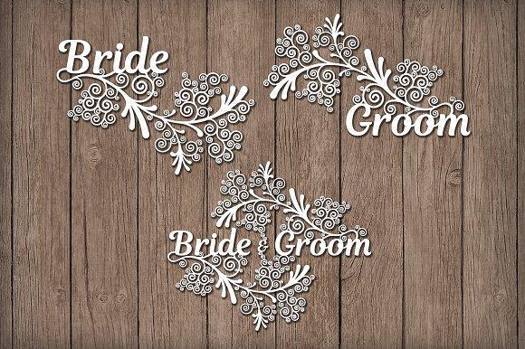Friezes Wedding SVG Files