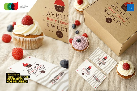 Bakery business card 48 logo business card templates bakery business card 48 logo business card templates creative market reheart Images