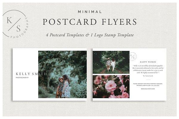 Minimal Postcard Flyers