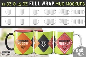 11 oz & 15 oz Mug Mockup Templates