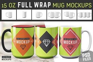 15 oz Mug Mockup Templates