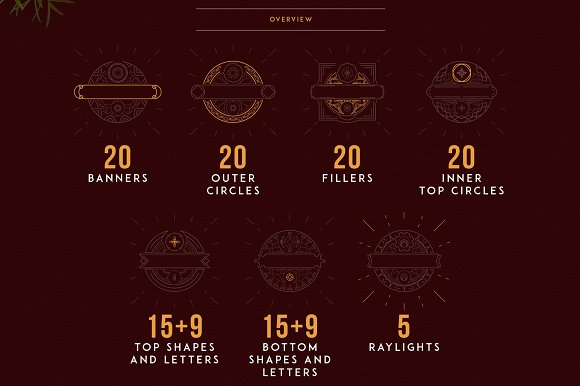 Emblem Creator all in one file -50% in Logo Templates - product preview 1