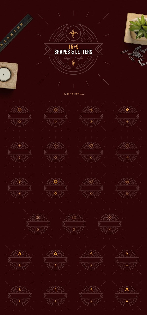 Emblem Creator all in one file -50% in Logo Templates - product preview 6