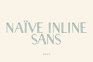 Naive Inline Sans Font Collection