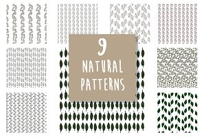 Natural pattern set: leaves&branches