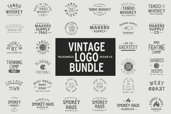 Logo Templates - The ULTIMATE Vintage Logo Bundle