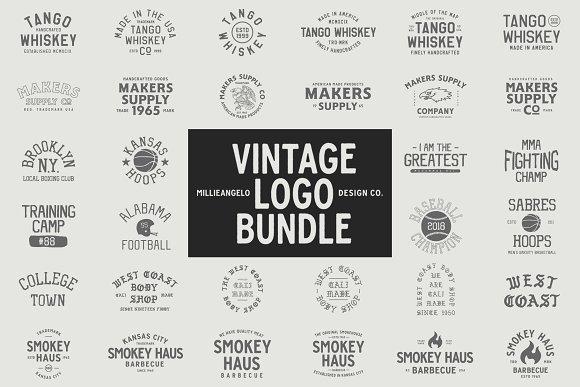 The ULTIMATE Vintage Logo Bundle