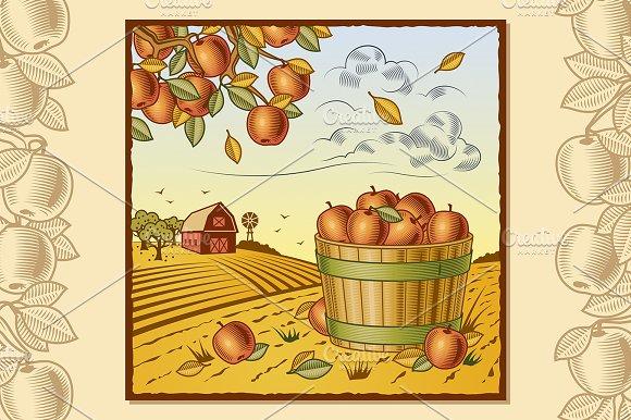 Landscape With Apple Harvest
