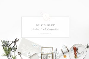 Dusty Blue Styled Stock Collection