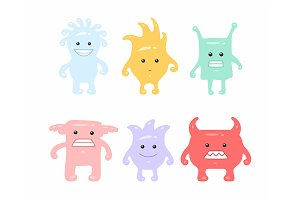 Colorful Cute Monsters Set