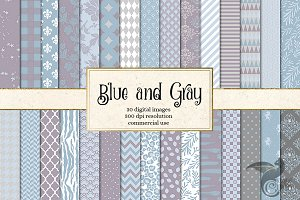 Blue and Gray Digital Paper