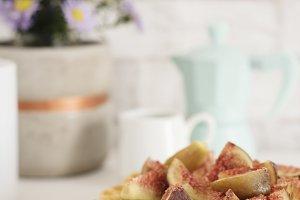 Healthy breakfast: Belgian waffles