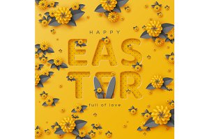 Easter holiday greeting card..