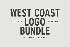 West Coast Design Bundle + Fonts