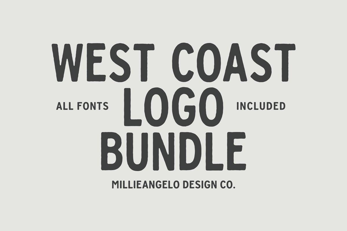 West Coast Design Bundle + Fonts