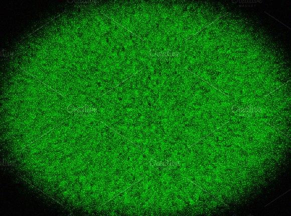 Vignette Green Television Noise
