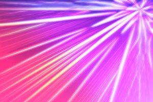 Diagonal pink retro arcade beams