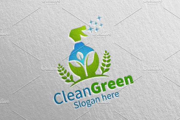 Cleaning Service Logo Eco Friendly