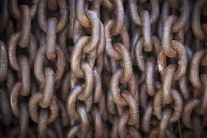 Abstract Thick Rusty Chain
