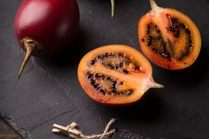 cloesup of tamarillo fruits