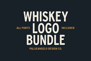 Whiskey Logo Bundle + Fonts