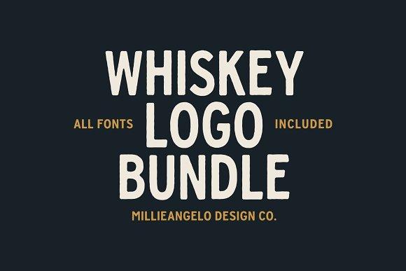 Whiskey Logo Bundle + Fonts in Logo Templates