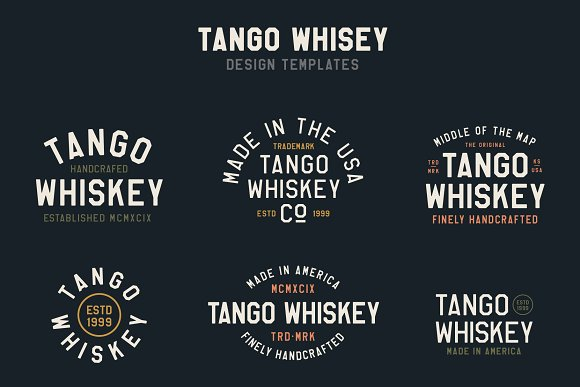 Whiskey Logo Bundle + Fonts in Logo Templates - product preview 1