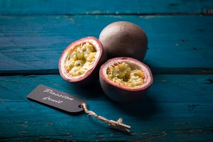 closeup of passion fruit