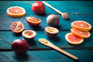 passion fruit and tamarillo