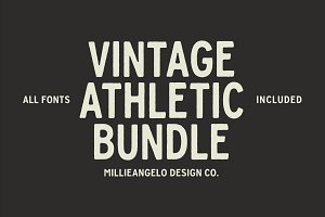 Vintage Athletic Bundle + Fonts