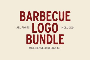 Barbecue Logo Bundle + Fonts