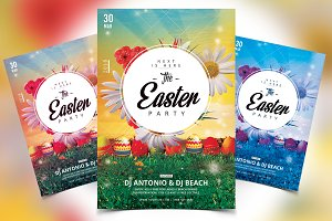 The Easter Party - PSD Flyer