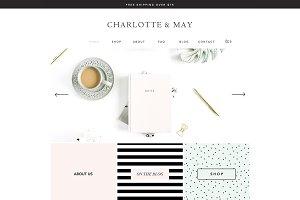 Charlotte & May e-Commerce Wix Theme