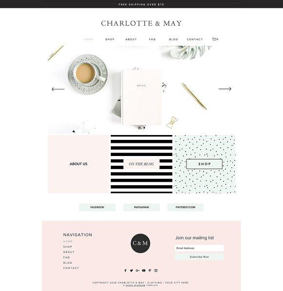 Charlotte May E-Commerce Wix Theme