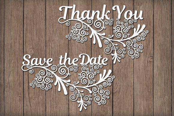 Wedding Friezes Floreal SVG Files