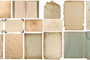 Paper with edges book isolated JPG