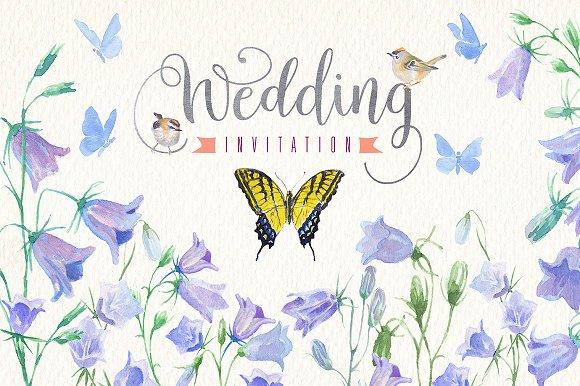 Wedding Watercolor Clip Art Set