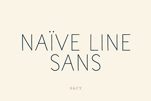 Naive Line Sans Font Collection