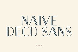 Naive Deco Sans Font Collection
