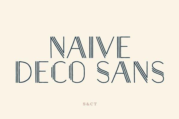 Naive Deco Sans Font Collection