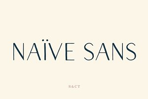 Naive Sans Font Collection