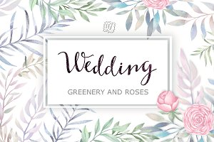 Wedding Greenery and Roses