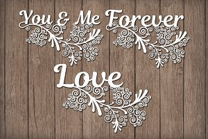 Friezes, You & Me, Forever, Love SVG