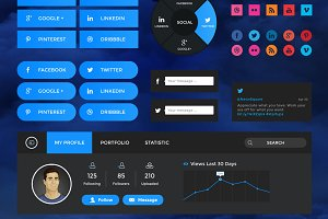 Cloudy Retina Web UI Kit