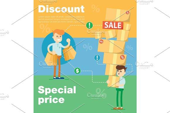 Discount Sale Vector Banners