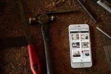 iPhone 6 Workshop Tools Mockup #2