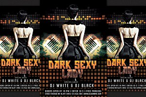 Dark Sexy Lady Flyer